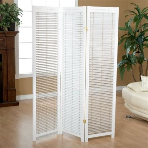 White Room Divider Screen Tranquility Wooden Shutter Screen Room Divider In White Contemporary Screens And Room