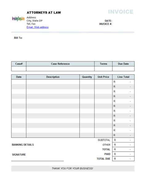 personal invoice template invoice template excel south africa invoice exle