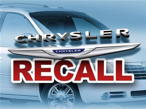 Chrysler Recall Information by Chrysler Now In The League Of Embarrassing Recalls Car