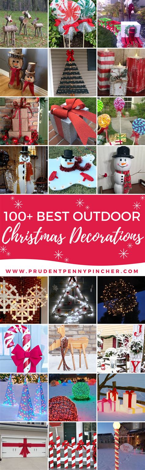 diy backyard decor 100 best outdoor diy christmas decorations prudent penny