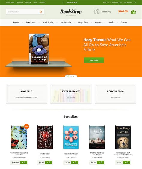 40 Fantastic Online Book Store Web Designs Web Graphic Design On Bashooka Bookstore Website Template