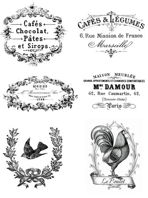 imagenes vintage para transfer vintage advert french shabby chic 6 x transfers or sticker