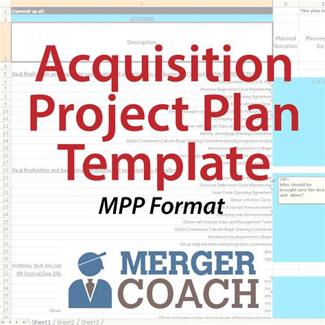 Mergers And Acquisitions Project Plan Templates Mergercoach Resource Acquisition Plan Template