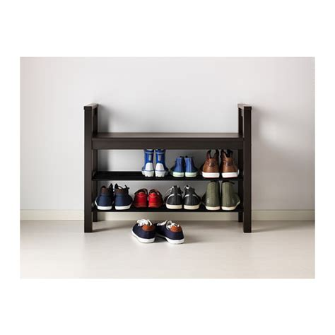 ikea bench with shoe storage hemnes bench with shoe storage black brown 85x32 cm ikea