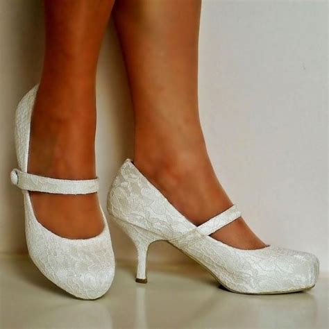 Wedding Shoes Ivory Low Heel by New Wedding Bridal Low Mid Kitten Heel Ivory Floral
