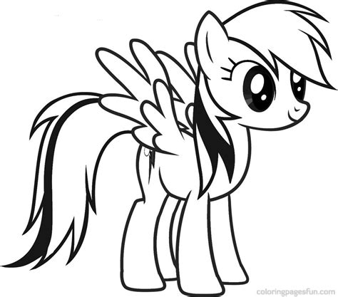 coloring page rainbow dash rainbow pony coloring pages