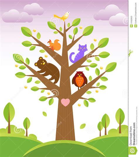 Wall Sticker Tree 193 rbol y animales lindos fotos de archivo imagen 31922653