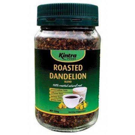 Detox Dandelion Tea Blend by Kintra Foods Roasted Dandelion Blend Jar Nourished