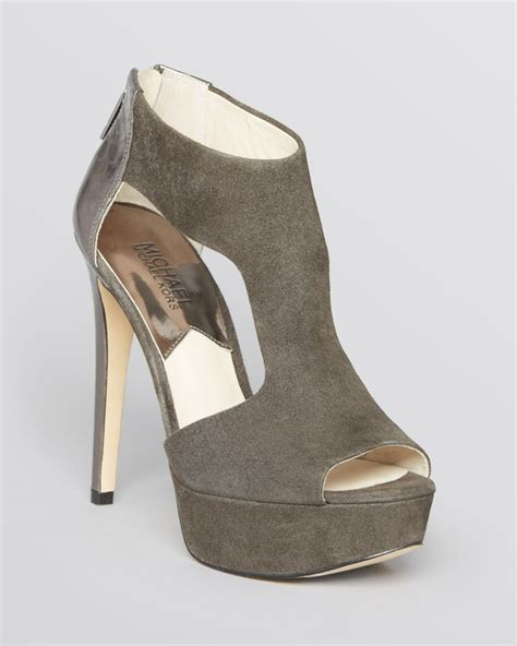 michael kors high heel sandals michael michael kors peep toe platform sandals leighton