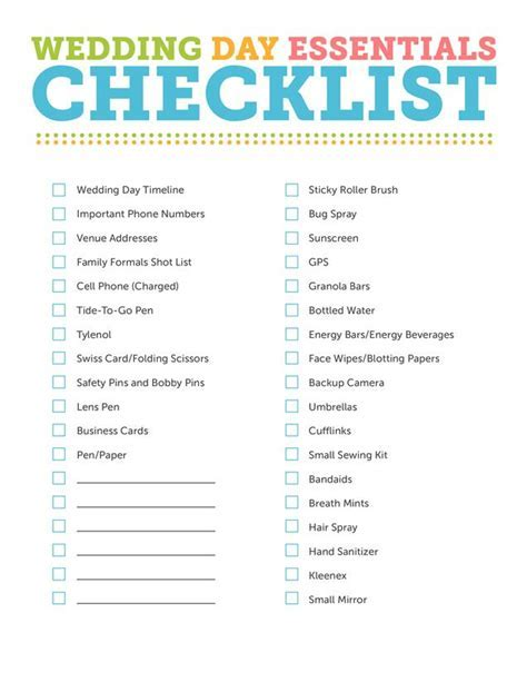 printable wedding planning checklist ? Wedding Planner
