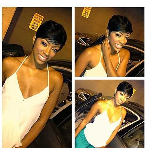 porsha williams hair stylist photos porsha stewart shows off new shorter hair do