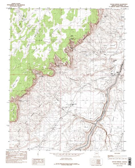 topographic maps arizona navajo bridge topographic map az usgs topo 36111g6