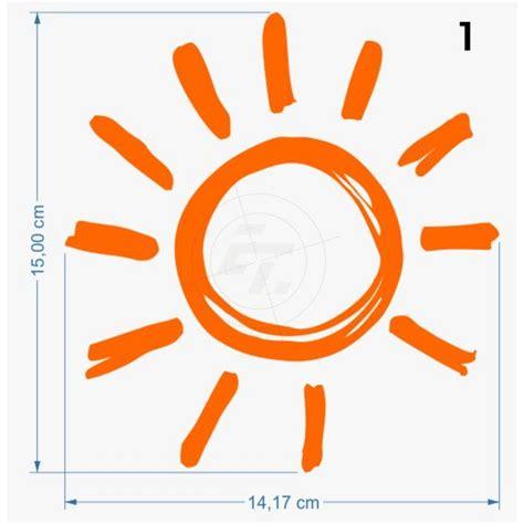 Aufkleber Sonne Gold by Sonne Sonnenaufkleber