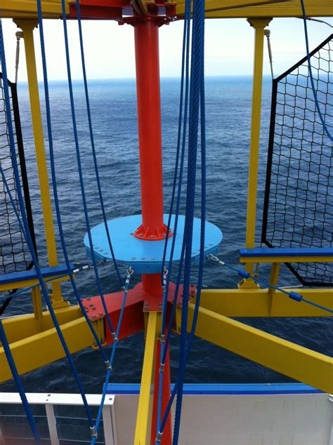 The Breakaway ropes course on the breakaway cruise