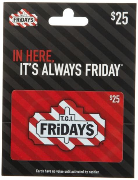 Tgif Gift Card Promotions - t g i friday s gift card 25 shop giftcards