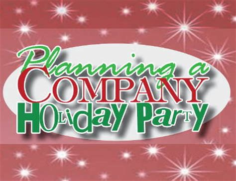 planning your company holiday party strictly business