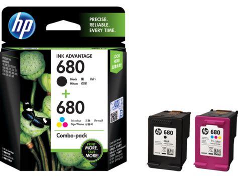 hp 680 2 pack black/tri color original ink advantage