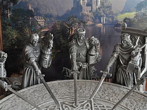 image de la table ronde yvain et le chevalier au