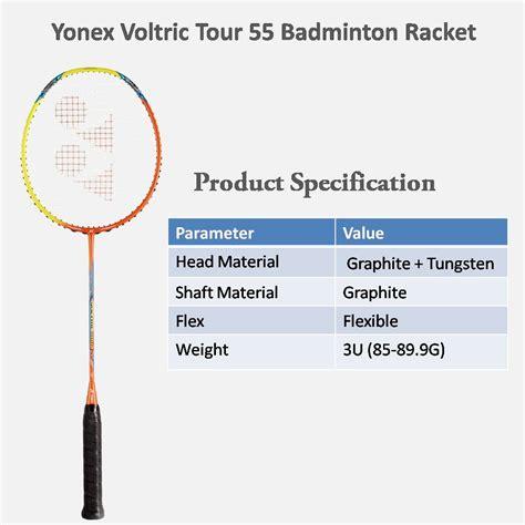 Raket Yonex Voltric Tour 55 yonex voltric tour 55 badminton racket unstrung buy