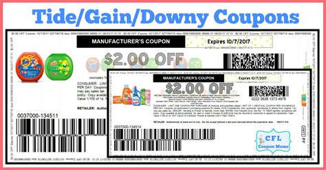 printable tide coupons hot coupons tide gain downy coupons cfl coupon moms