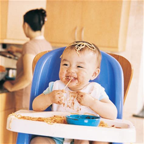 Baby In Chair by Finding And Using A Safe High Chair What To Expect