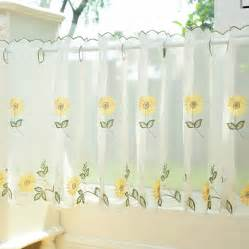Sunflower Curtains Kitchen Popular Sunflower Valance Kitchen Curtains Buy Cheap Sunflower Valance Kitchen Curtains Lots