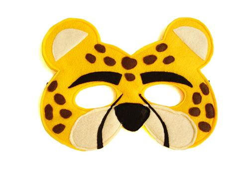 Masker Animal children s cheetah felt animal mask