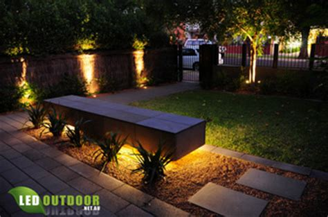 led under bench lighting townhouse garden brought to life at night with led s led