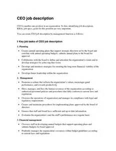 Ceo Resume Samples Pdf by Hospital Chief Administrative Officer Job Description