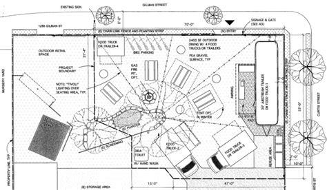 Drawing Floorplans plans afoot for berkeley beer food truck garden