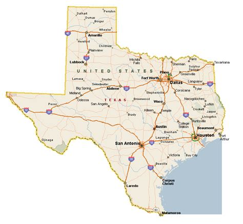 texas on map texas city map county cities and state pictures