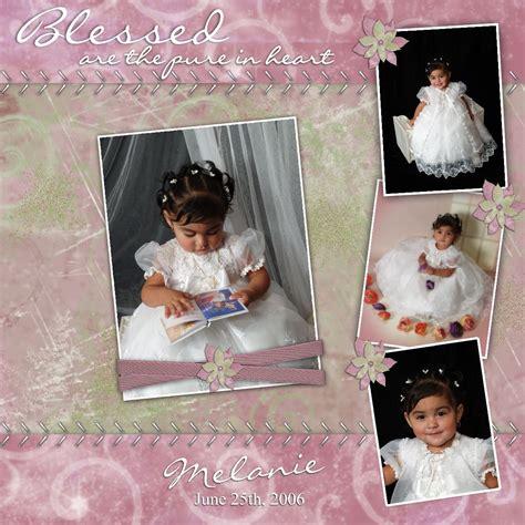 scrapbook layout ideas baby christening melanie s baptism challenge digital scrapbooking at