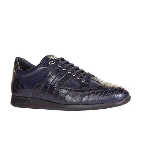 skin sneakers stefano ricci crocodile skin low top sneakers in blue for