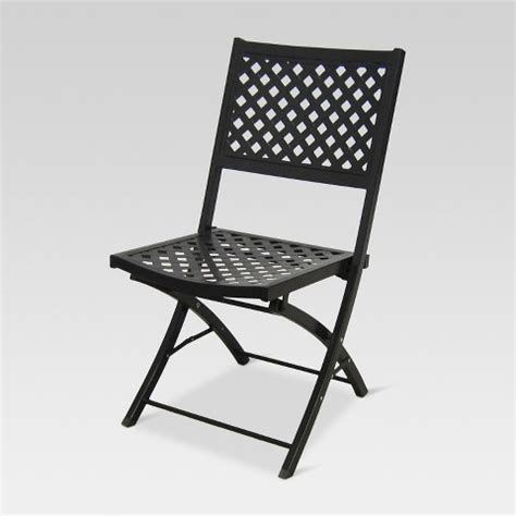 Threshold Patio Chairs Woven Metal Folding Patio Chair Threshold Target