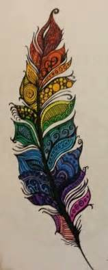 cool colorful drawings colored feather doodle cool doodle idea for dulce