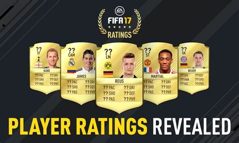17 fifa player ratings fifa 17 player ratings fifa 18 fifavoetbal
