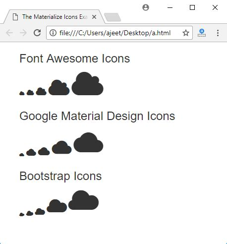 css tutorial javatpoint materialize css icons javatpoint