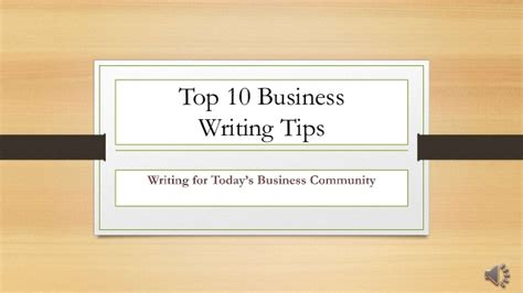 business letters writing tips top 10 business writing tips