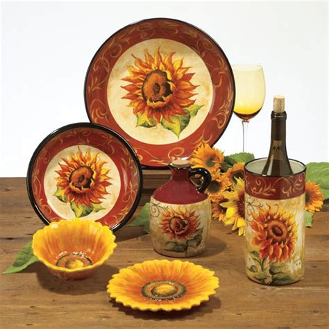 Tuscan Sunflower Kitchen Decor by This Will Be New Kitchen Dinnerware Sunflower Kitchen
