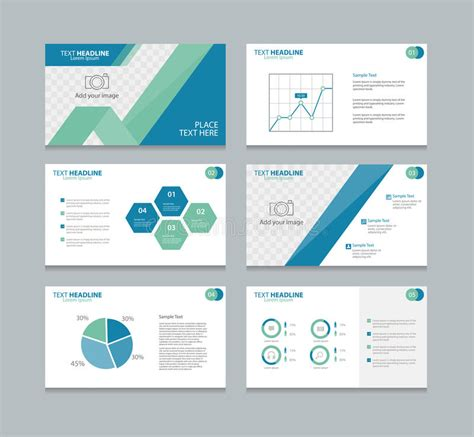 page layout design elements page layout design template for presentation stock vector