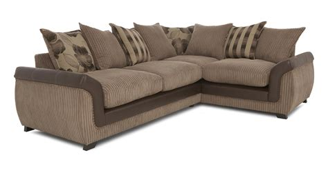 corner sofa 2 seater dfs chantilly mocha fabric left hand facing 2 seater