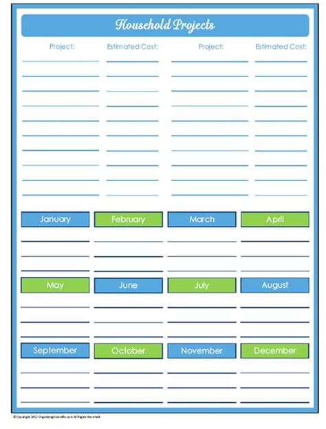 31 days of home management binder printables day 20