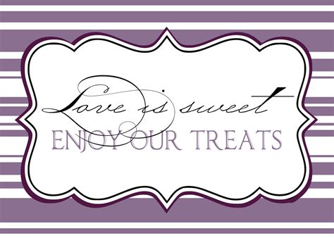 templates for signs printables for candy jar labels candy buffet ideas for