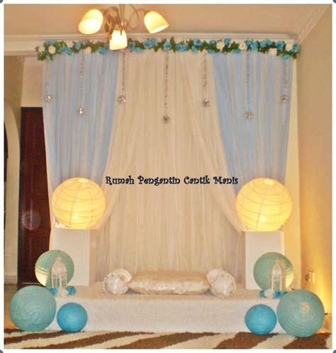 Hiasan Kamar Baby Bulu pelamin biru putih cantik manis bridal bouquet