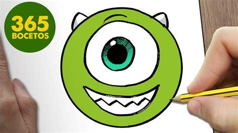 imagenes de monster inc kawaii como dibujar mike wazowski emoticonos whatsapp kawaii paso