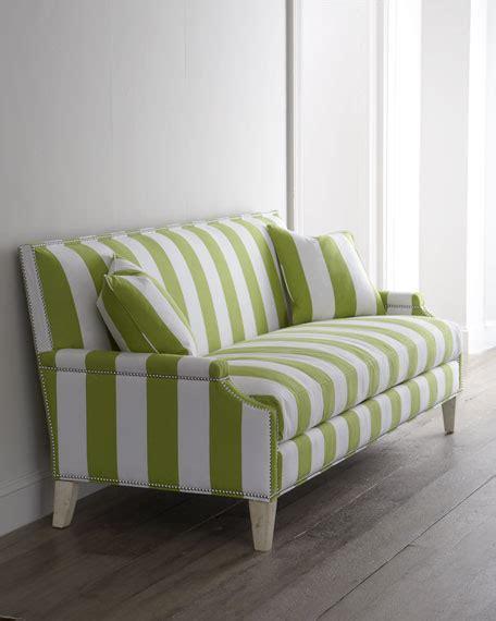 green and white striped sofa massoud quot appletini quot striped sofa