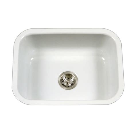 Undermount Kitchen Sink Reviews Houzer Pcs 2500 Wh Porcela White Undermount Single Bowl Kitchen Sinks Review Rookadue