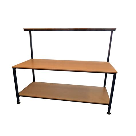 Table With Shelves by Packing Table With And Lower Shelf 2000mm X 900mm Packing Tables By Spaceguard