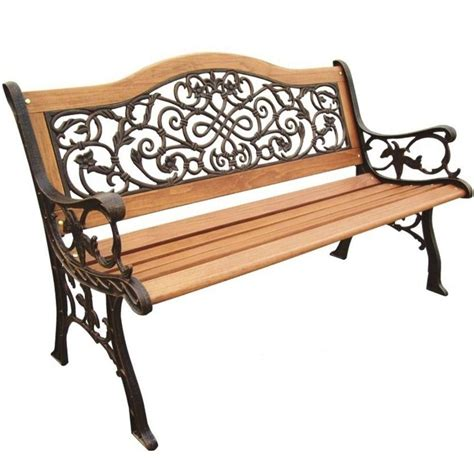 weatherproof bench parkland heritage sienna camelback patio park bench