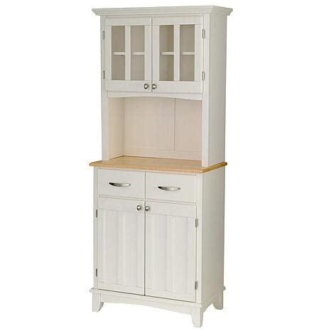 Small Buffet Server With Hutch White 6004059 Hsn Small Kitchen Buffet Cabinet